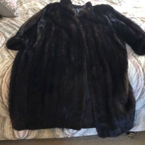 Jackets & Blazers - Full length natural mink coat